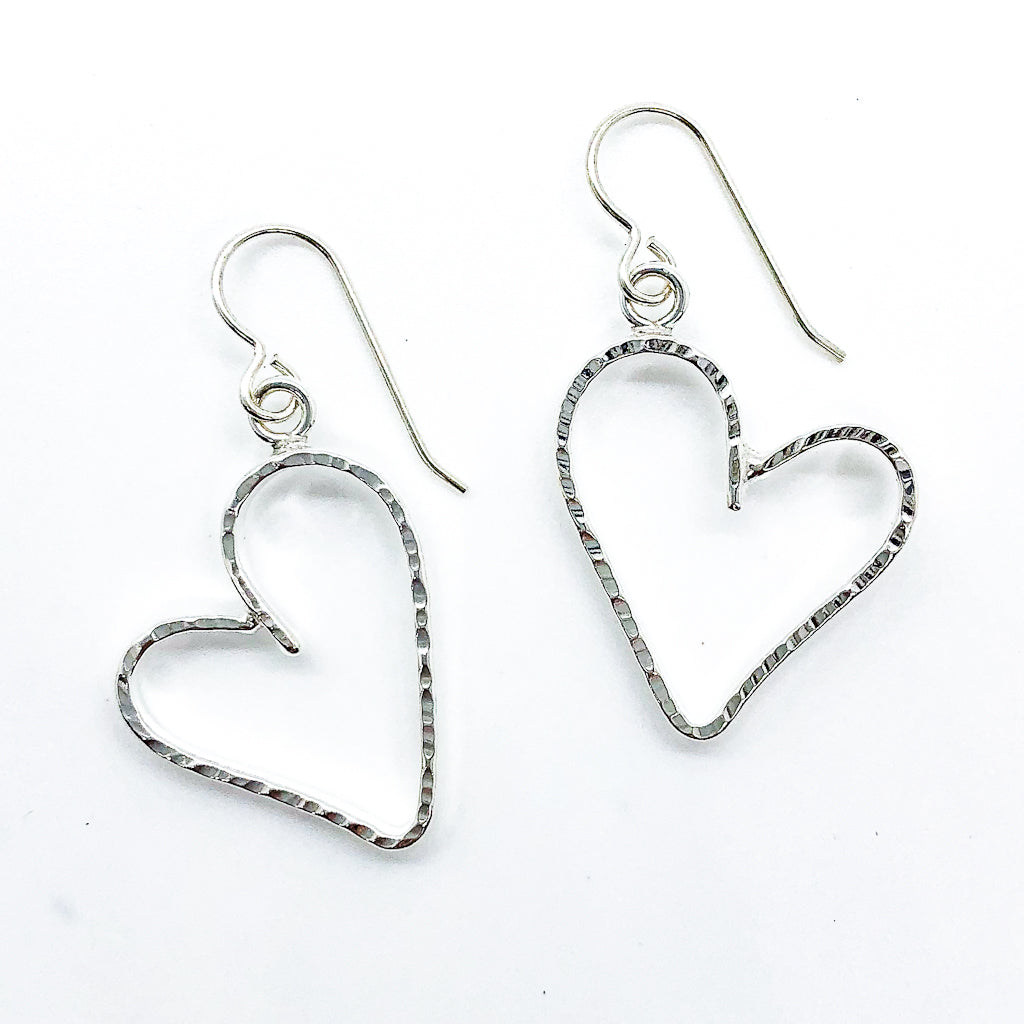 Small Jane Heart Earrings