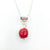 detail view of sterling silver Big Juicy Stone Necklace with Red Coral by Judie Raiford