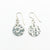 Sterling Flat Disc Ball Pein Earrings by Judie Raiford
