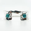 back view of Sterling Anticlastic Cuff with Turquoise by Judie Raiford