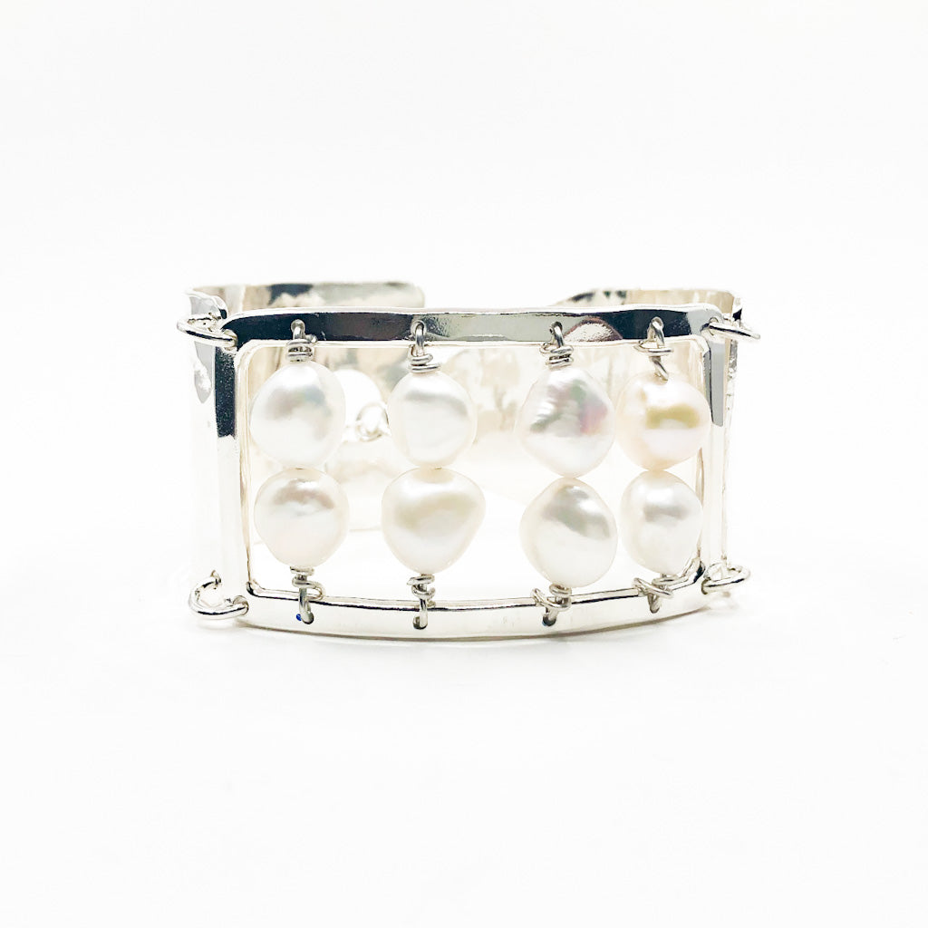 Sterling Sue Pearl Bracelet by Judie Raiford