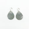 Sterling Aquapear Earrings by Judie Raiford