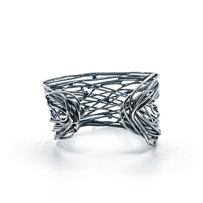 Oxidized Sterling Random Theory Cuff
