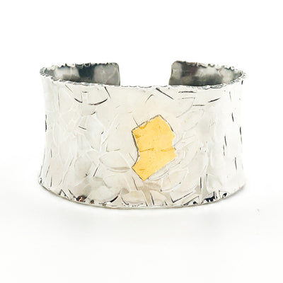 Sterling and 24k MB3 Anticlastic Cuff by Judie Raiford