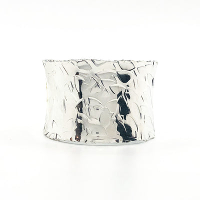 alternate side view of Sterling and 24k MB3 Anticlastic Cuff by Judie Raiford
