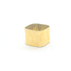 side angle view of 14k Gold Square Stovepipe Ring by Judie Raiford in size 9