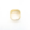 over top view of 14k Gold Square Stovepipe Ring by Judie Raiford in size 9