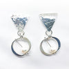 Sterling Naught Earrings with White Pearls by Judie Raiford