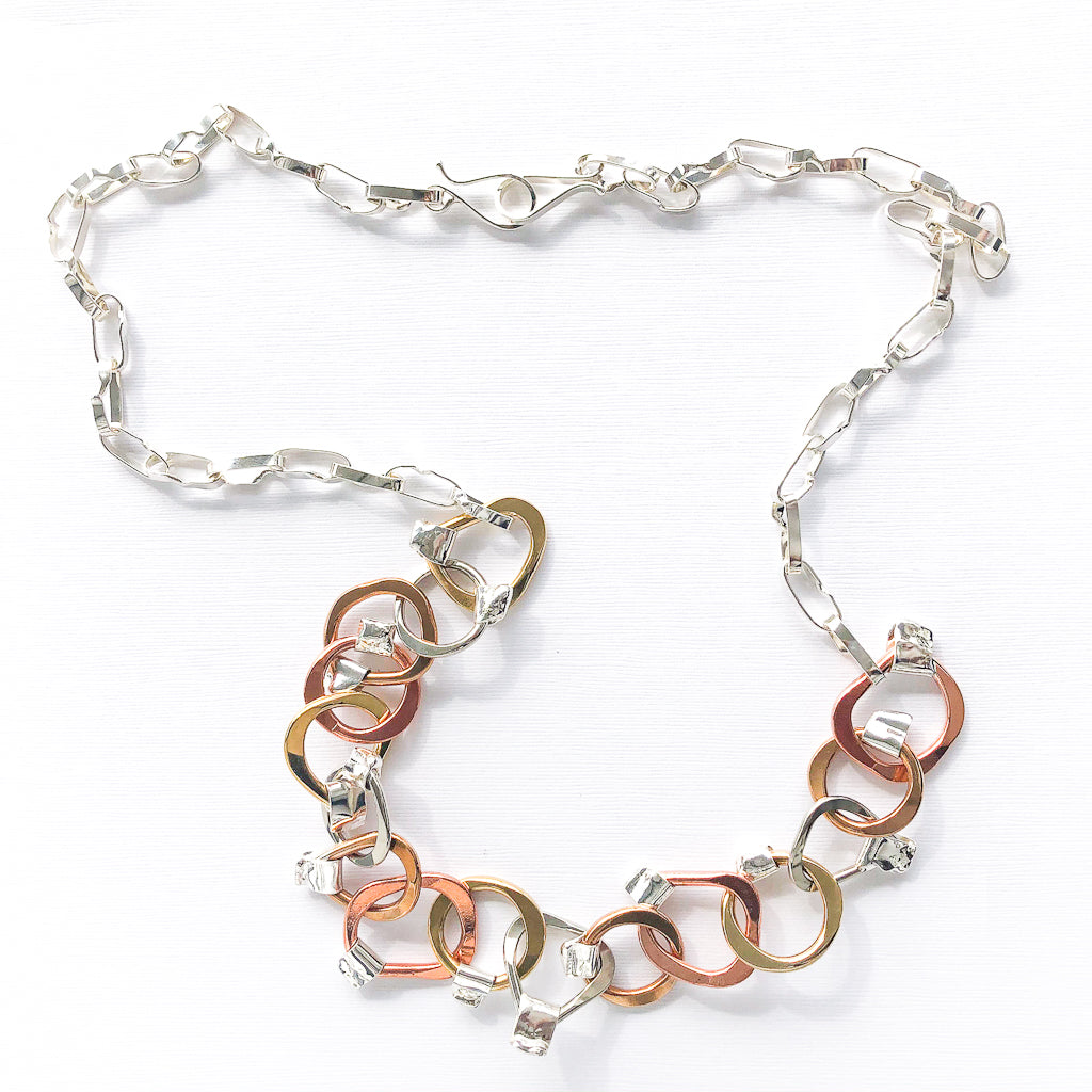 Five Metal Necklace by Judie Raiford