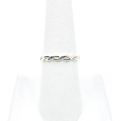 No Stone Sterling Stack Ring