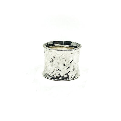 Sterling X Texture Anticlastic Ring