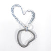 Sterling Heart Keyring by Judie Raiford