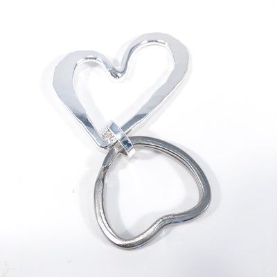 back side view of Sterling Heart Keyring by Judie Raiford