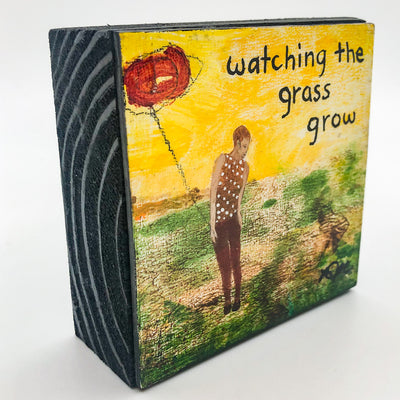 side angle view of Watching the Grass Grow #1278 by Mamie Joe