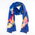 hand painted Blue Geckos 100% Silk Scarf by Joan Monroe