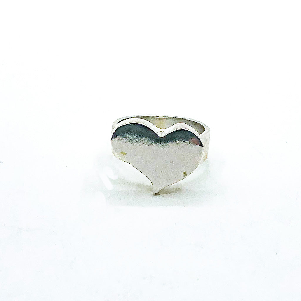 Sterling Groovy Heart Ring by Betsy Frost