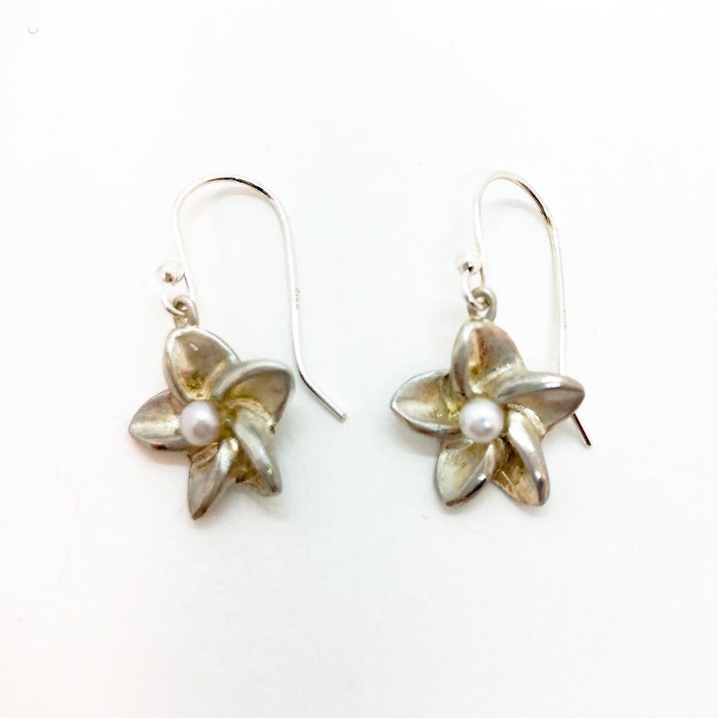 sterling Plumera Earrings with French Wire by Betsy Frost