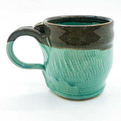 Olive Green and Seafoam Ceramic Coffee Mug