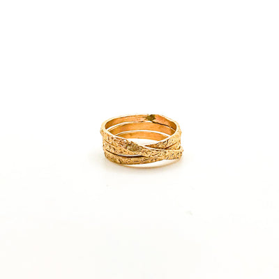size 6.75 Gold Filled Trinity Ring by Donna Burdic