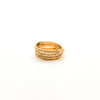 side view of size 6.75 Gold Filled Trinity Ring by Donna Burdic