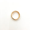 over top view of size 6.75 Gold Filled Trinity Ring by Donna Burdic