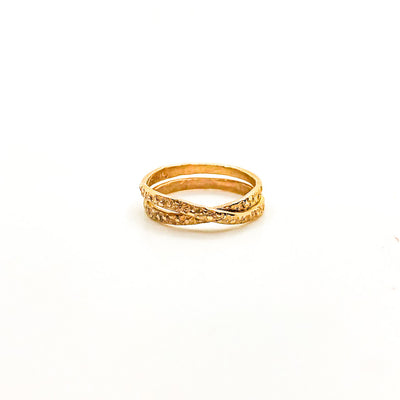 size 6.5 14k Gold Filled Infinity Ring by Donna Burdic