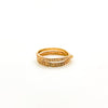 right side view of size 6.5 14k Gold Filled Infinity Ring by Donna Burdic