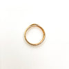 over top view of size 6.5 14k Gold Filled Infinity Ring by Donna Burdic