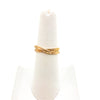 size 6.5 14k Gold Filled Infinity Ring by Donna Burdic on white ring display stand