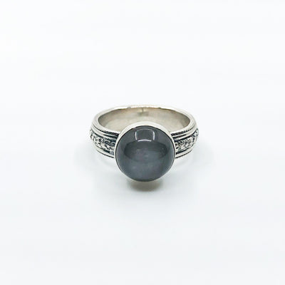 size 6 Sterling Gray Moonstone Ring by Berlin Randall