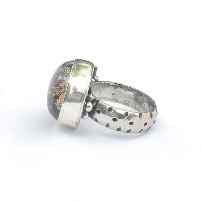 left side view of Sterling Lodalite Quartz Ring by Berlin Randall