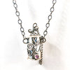 detail view of Sterling Vessel Necklace with Pink Tourmaline by Berlin Randall