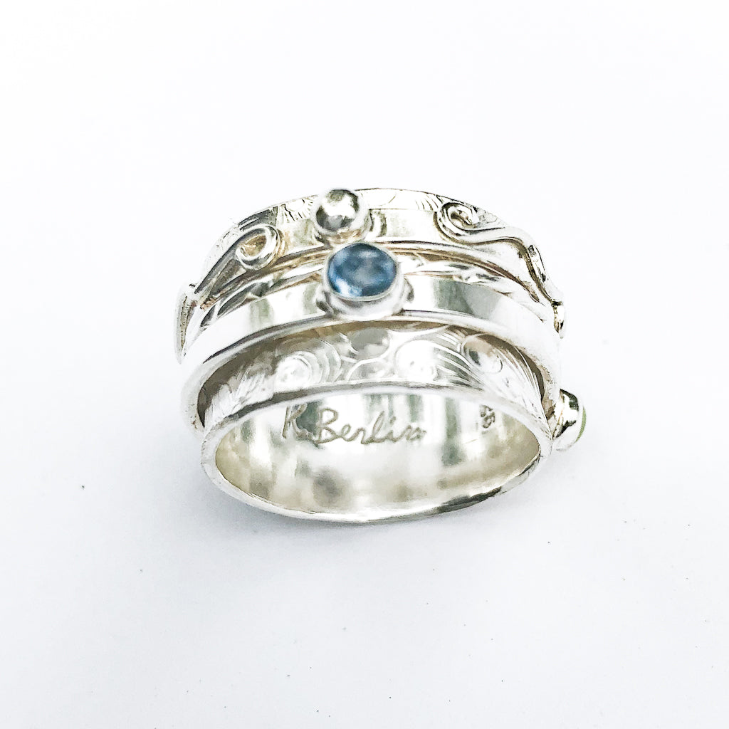 Sterling Twiddle Stoned Ring by Berlin Randall
