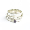 alt view of Sterling Twiddle Stoned Ring by Berlin Randall