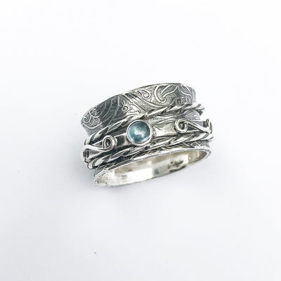 Twiddle Stoned Ring by Berlin Randall