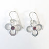 Daisy Drop Earrings by Berlin Randall with rhodalite garnet