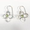 Daisy Drop Earrings by Berlin Randall with peridot
