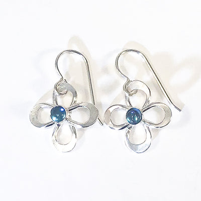 Daisy Drop Earrings by Berlin Randall with london blue topaz