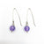 Sterling Allure Earrings with Amethyst by Berlin Randall