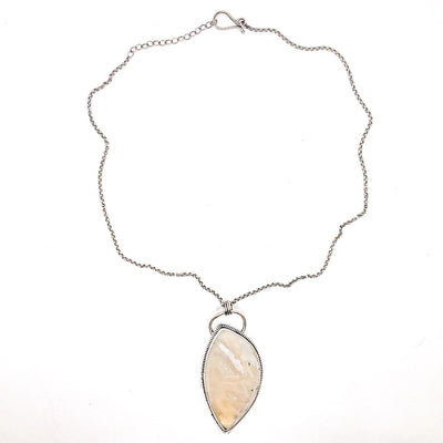 White Moss Agate Necklace by Berlin Randall