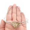 Sterling Lodalite Quartz Choker by Berlin Randall held in hand