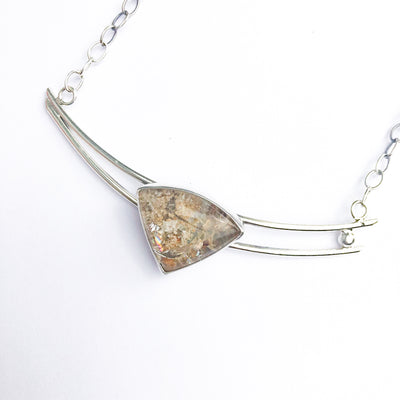 detail view of Sterling Lodalite Quartz Choker by Berlin Randall