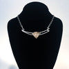 Sterling Lodalite Quartz Choker by Berlin Randall on black mannequin bust