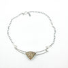flat lay view of Sterling Lodalite Quartz Choker by Berlin Randall