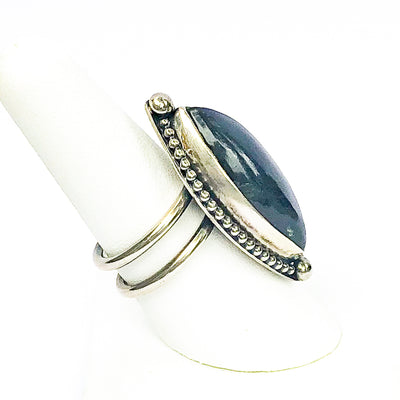 side view of size 8.25 Labradorite Ring by Berlin Randall