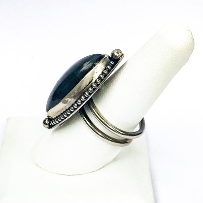 alternate side view of size 8.25 Labradorite Ring by Berlin Randall