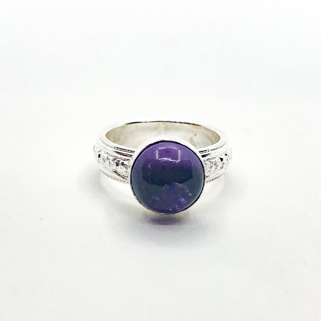 size 6.5 Sterling Princess Ring with Amethyst by Berlin Randall