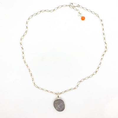 Sterling Double Face Quarter Necklace