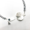 clasp detail of Sterling Unmentionables Necklace with Onyx and Rutilated Quartz Tourmaline by Ling-Yen Jones