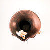 over top view of Hear, See, Speak No Evil Cat Vase by Nolan Windholtz